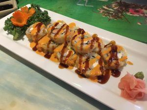 Bama Roll from Benja's Thai and Sushi Restaurant in Mobile, Alabama