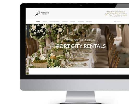 Port City Rentals Website