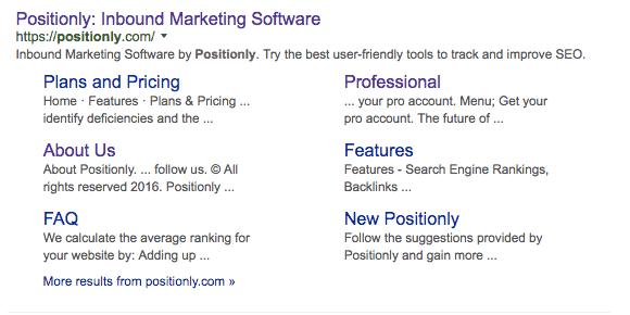 Homepage meta description from Google